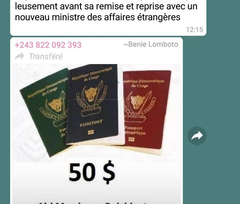 Désintox: le président Félix Tshisekedi n'a pas ordonné le rabais du prix de passeport