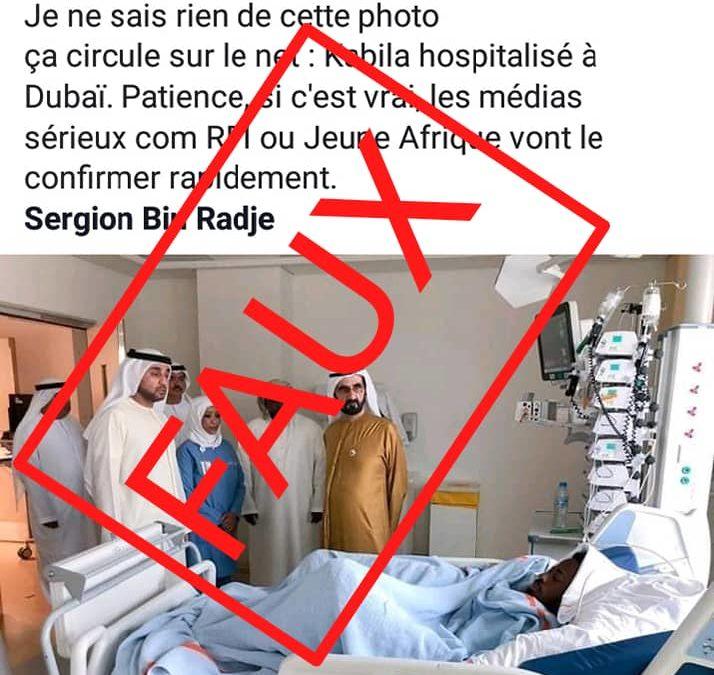 Désintox: attention à cette fausse photo de Kabila en soins intensifs à Dubaï