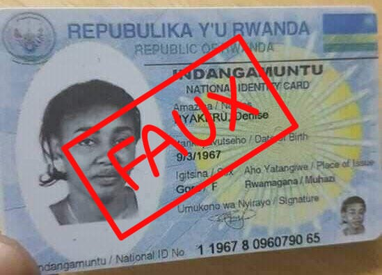 Désintox: ces fausses cartes d'identité attribuées à des personnalités Congolaises