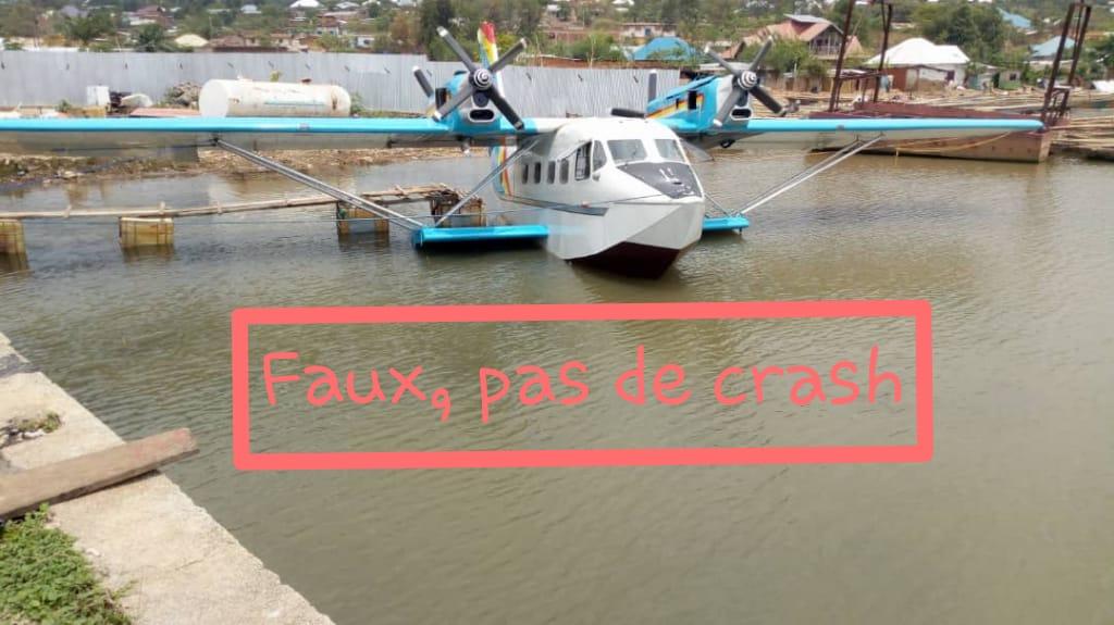 Faux, l'hydravion de Gaby assemblé à Uvira n'a pas connu de crash