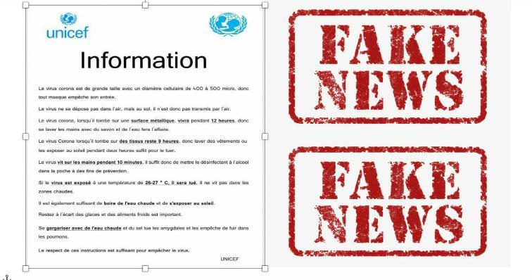 Factcheck Covid19: méfiez-vous de ce faux communiqué sur le coronavirus attribué à l'Unicef